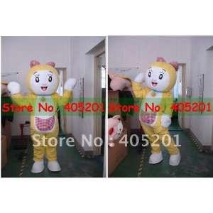 cartoon yellow cat mascot costumes Toys & Games
