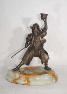 Japanese Bronze Samurai Warrior Statue Casting