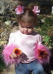 Custom Boutique Fur Cuff Shirt Tee Pink   Lovable