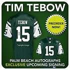 TIM TEBOW Signed NEW YORK JETS Green Custom Jersey   PBA COA