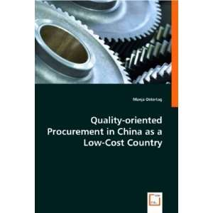 in China as a Low Cost Country (9783836484299): Manja Ostertag: Books