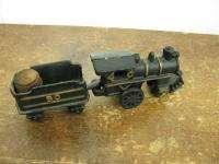 Repro Black Cast Iron Train Locomotive Tender Toy 2 Pc