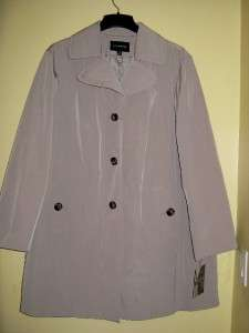BN london fog womens ladies fall spring rain trench coat jacket plus