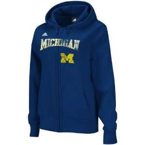 Michigan Wolverines adidas Navy Womens Distressed Classic