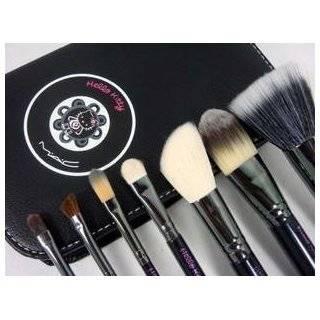 Make up Cosmetic Brush Set Kit w/ Leather Case   For Eye Shadow, Blush