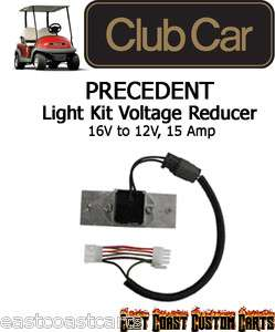 Club Car Precedent Golf Cart Light Kit VOLTAGE REDUCER (Carts w/8volt