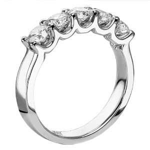 Diamond Anniversary Wedding Ring in 14k White Gold   Size 7 Jewelry