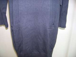 NWT Lennie Nina Leonard Grey Turtleneck Sweater Dress M