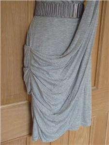 KAREN MILLEN BLACK OR GREY DRAPED JERSEY DRESS BNWT