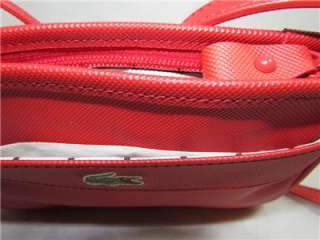 New LACOSTE Authentic Womens Messenger Bag Crossbody Bag Purse Red