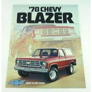 1978 78 Chevrolet Chevy BLAZER Truck BROCHURE C10 K10