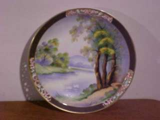 OCCUPIED JAPAN SIGNED T KITA Hand Painted PLATE UCAGCO