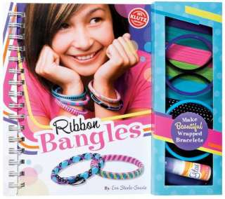 RIBBON BANGLES KLUTZ BRACELET MAKING CRAFT KIT