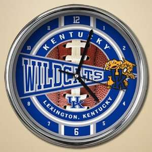 Kentucky Wildcats 12 Chrome Clock