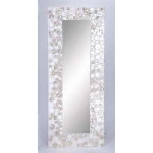 Charismatic Wood Capiz Large Decorative Wall Mirror
