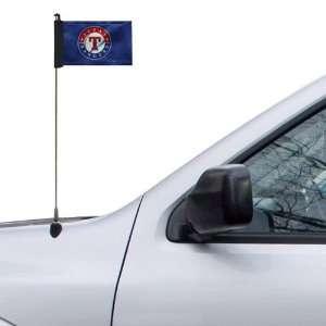 MLB Texas Rangers 4 x 5.5 Royal Blue Antenna Flag