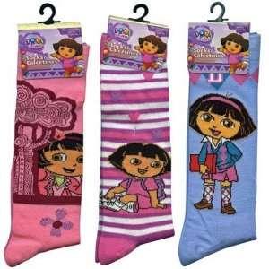 3 Pair Dora the Explorer Knee High Socks