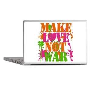 Laptop Notebook 15 Skin Cover Make Love Not War Peace
