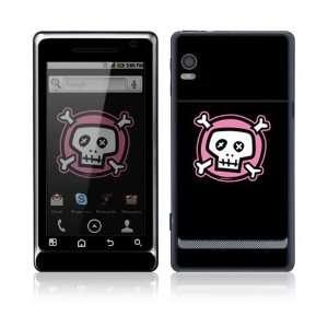 Pink Crossbones Protector Skin Decal Sticker for Motorola