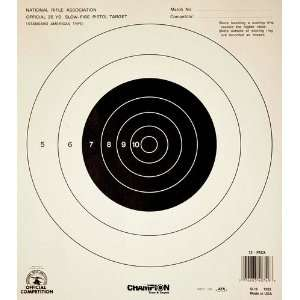 Champion Nra Paper Targets Gb 16 25 Yard Pistol Slow Fire