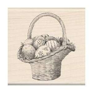 Seasonal Mounted Rubber Stamp Easter Basket