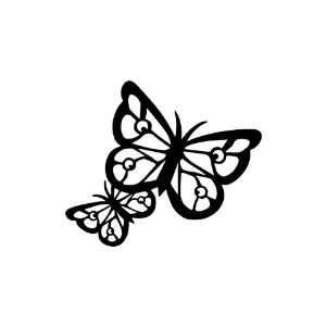 Butterflies BLACK vinyl window decal sticker Office