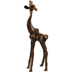 African Wildlife Giraffe Sculpture Statue Figurine