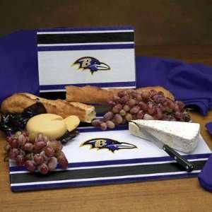Baltimore Ravens Glass Cutting Board Set