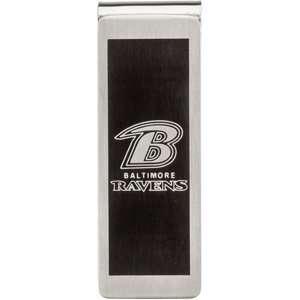 19.75Mm Polished Baltimore Ravens Team Name & Logo Money Clip Jewelry