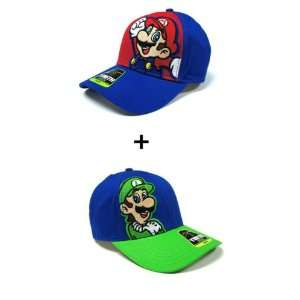 Nintendo Video Super Mario Brothers Video Game Hat Set   Luigio Green