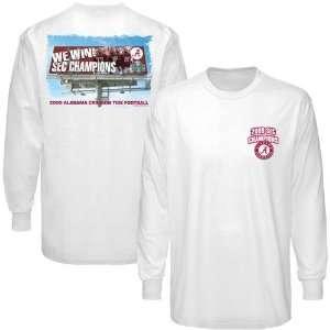 Alabama Crimson Tide White 2009 SEC Champions Billboard Long Sleeve T