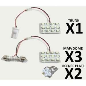White 6 Lights LED Interior Package 58 LEDs Total Toyota Yaris Sedan