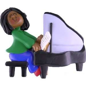 3907 Pianist Ethnic African American Female Personalized