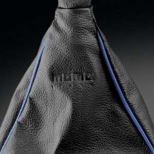 Profile Shift Boot Long black with Blue Piping Automotive