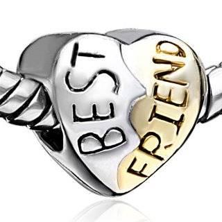 BEST FRIENDS Charm Bead for European Bracelet Arts, Crafts & Sewing