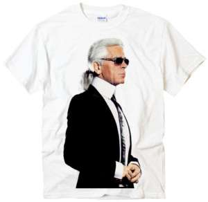 KARL LAGERFELD Fashion Leader Designer white t shirt