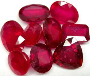 pc. parcel of 1.80 ctw. oval Blood Red Ruby 5x3mm.