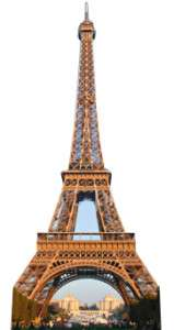 The Eiffel Tower Full size stand up cardboard cut out