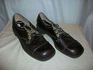 Jesse Janes Sebago Womens/Ladies Brown Leather Shoes Size 9 1/2M