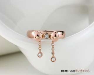 Pinky Classic F / VS1 diamond 18K rose gold design ring