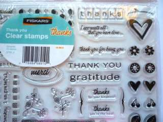 42Pc. Clear Stamp Set ~THANK YOU~ by FISKARS