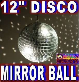 NEW 12 DISCO BALL MIRROR DANCE GLASS PARTY dj kj B8