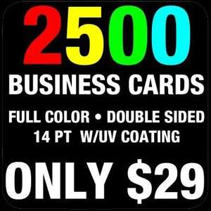 2500 CUSTOM FULL COLOR BUSINESS CARDS ✔ FREE DESIGN ✔ ONLY $29