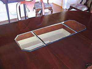 12x36 3 Piece Mirror Table Runner with Beveled Edges