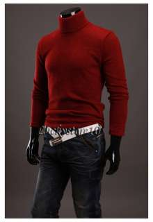 Mens Premium Stylish Neck Turtleneck T shirt Sweater