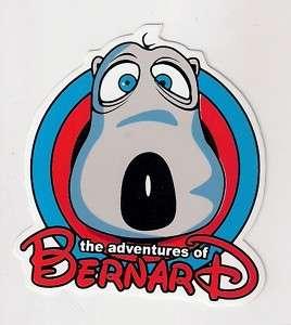 O104 BERNARD BEAR CARTOON ANIMATION STICKER DECAL 3X3
