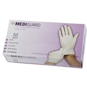 Mediguard PF Latex Textured Exam Gloves   Small, 10 box / Case, 1,000