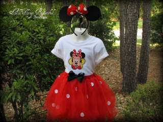Minnie Mouse Halloween Costume Birthday Outfit Disney