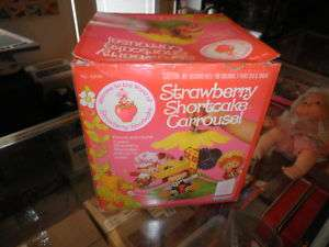 1980 Vintage SBSC Strawberry Shortcake Carousel Rare Playset MIB NRFP
