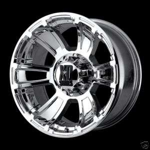 Series XD796 REVOLVER Chrome OFFROAD FORD DODGE Truck Wheels RIMS SET